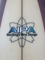 Vintage 1970's Aipa Single Wing Stinger Swallow Tail Surfboard Hawaii