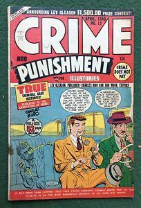 Crime and Punishment #13 Lev Gleason Pub Golden Age True Illustories g/vg