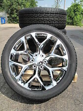 "22"" New GMC Yukon Sierra Chrome Wheels 2854522 Nexen Tires 5668 W/Chrome GMC cap"