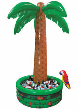 X 2 6ft Tropical Luau Hawaiian Garden Party Palm Tree Inflatable Drinks Cooler