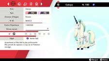Pokemon GALOPA GALAR shiny 6IV + masterball - Battle Ready - Epée/Bouclier
