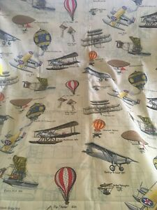 4y F SCHUMACHER & Co Exclusive Print Air And Space Smithsonian UPHOLSTERY FABRIC