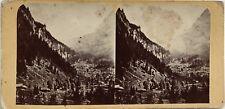 Suisse Vallée Photographie Stereo Vintage Albumine c1865