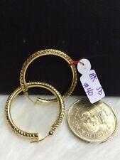 SOLID 18k Saudi Gold Earrings - Round Loop - 4.0 g.