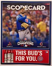 Chicago Cubs 2017 Scorecard Vs Cardinals (Kris Bryant On Cover)! Players Day!