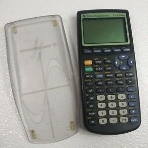 Texas Instruments TI-83 Plus Graphing Calculator With Clear Cover