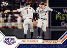 2017 Topps Opening Day Superstar Celebrations Insert #SC-20 Carlos Correa Astros