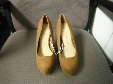 Atmosphere Uk Size 3 EUR 36 Brown Leather Ladies Platform Hi Heels Shoes