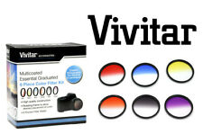 Rotating Graduated Color Filter Kit 67MM RED YELLOW BLUE ORANGE GRAY PURPLE