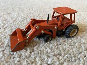 Vtg Ertl Brand Deutz Allis Orange Endloader Toy - 1/64 Scale - 1597D - Used