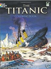 Titanic Sea Ship Nautical Ocean Adult Colouring Book Creative Art Therapy Relax