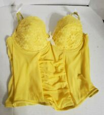 Cacique Yellow Strapless Bustier Corset Plus Size 23/24 Lane Bryant