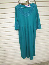 Woman Within, Green, Long sleeve, dress.  Size LARGE.