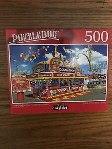 "Puzzlebug 500 Pcs 18.25"" X11 FLORIDA STATE FAIR TAMPA FOOD CONCESSION"
