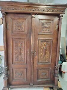 Antique German/English Oak Armoire