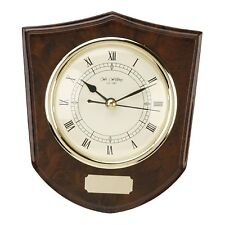 Widdop Compact Shield Shape Clock with optional Engraving Plate 16.5cms W9720