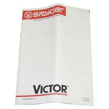 Spyder Victor Paintball Gun Users Guide Owners Operation Instruction Manual Rare