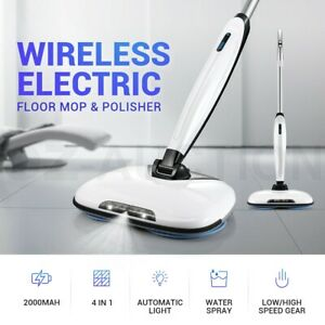 4 IN 1 Electric Floor Cleaner Mop Cordless Wax Polisher Cleaning Washer Sweeper