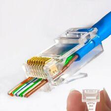Platinum Tools EZ RJ45 Crimp LAN Network Connectors for CAT5/CAT6 - Pack of 20