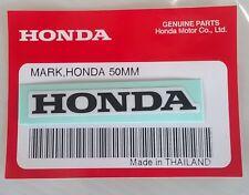 HONDA MARK 50mm BLACK / WHITE DECAL STICKER LOGO BADGE 100% GENUINE * UK STOCK *