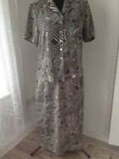 EASTEX SKIRT SUIT, LONG SKIRT, SHORT SLEEVE TOP, SIZE 14, GREAT PATTERN