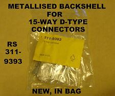 15 WAY metallizzata Backshell PER D-Tipo spina o presa (cappuccio di copertura) RS 311-9393