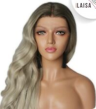 ILAISA | Premium quality synthetic Lace front wig | Ombre Ashblond |