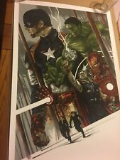 Avengers Limited Edition Print only 10 Made Very Rare 24 x 36 Inches Sold Out !
