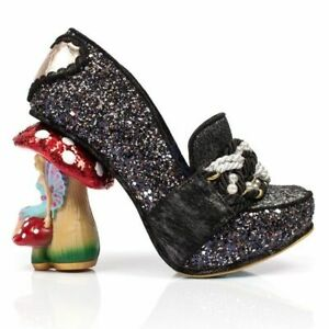 Irregular Choice Hazel Corntree (C) Black Mushroom Heel Shoes EU 36 UK 3.5