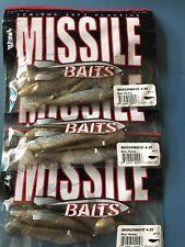 3 packs of Missile Baits Shockwave Paddle Tail Swimbait Brass Monkey 4.25in
