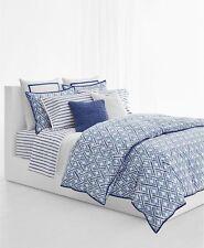 Ralph Lauren Home Jensen KING 3-PC Comforter and Shams Set Blue / White $330