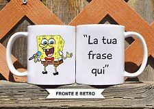 Tazza ceramica SPONGEBOB 4 CON FRASE PERSONALIZZATA ceramic mug