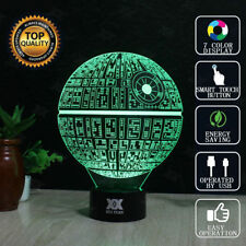 7 Color 3D LED Star Wars Death Star Night Light Touch Switch Table Desk Lamp