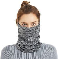 Winter Neck Gaiter Warmer, Adjustable Elastic Closure Face Cover Grey
