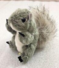 "Folkmanis BABY GRAY SQUIRREL Finger Puppet 4.5"" plush"