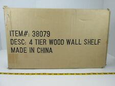 "New 4 Tier Pinwood Heart Shelf Cabinet Item # 38079 Wsc/46-0378 K/D 34"" Gs"