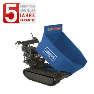 scheppach Profi Kettendumper Dumper Mini Raupe DP6500 Motorschubkarre 8PS 500kg