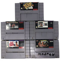 SNES Super Nintendo 5 Game Bundle: Vegas Stakes, TECMO NBA, NBA Live 95....