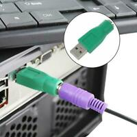 USB to PS2 Adapter USB Male to 6Pin Female Keyboard Head Conversion Mouse W8K9