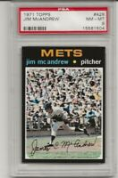 SET BREAK -1971 TOPPS #428 JIM MCANDREW , PSA 8 NM-MT, NEW YORK METS, L@@K !