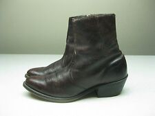 VINTAGE BURGUNDY MADE IN USA DISTRESSED WALKER ANKLE BEATLE BOOT SIZE 7.5 D