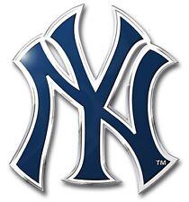 New York Yankees Premium Raised Metal Die Cut Color Chrome Auto Emblem Decal