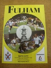 22/11/1989 Fulham v Bath City [FA Cup] . Item appears to be in good condition un