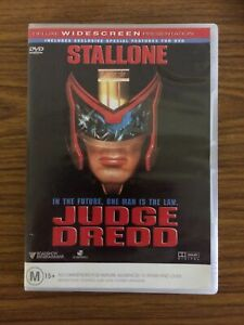 JUDGE DREDD , DVD.    Region 4. (Rare). Sylvester Stallone.  FREE POSTAGE.