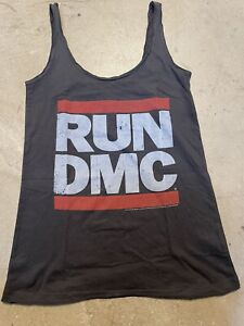 LADIES AMPLIFIED RUN DMC VEST TOP M CHARCOAL GREY BRAND NEW