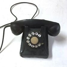 Vintage Bell System Western Electric Black Rotary Desk Telephone Phone