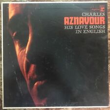 Charles Aznavour Sings His Love Songs In English RS6157 1965 Lp 1st Press VG+