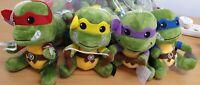 Teenage Mutant Ninja Turtles 20cm Plush SET 4 Donatello Leonardo Michelangelo&Ra