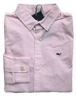 VINEYARD VINES Boys Fine Line Pink Stripe Whale Shirt Button Down NWT 5 6 7 S