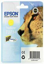 Genuine Epson T0714 Yellow Ink Cartridge for Stylus SX415 SX600FW SX515w